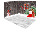 Katebackdrop:Kate Christmas gray outside snow wood room set