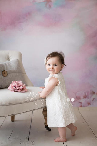 Katebackdrop:Kate Abstract White Flower Pink Background Photography Backdrop