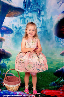 Kate Children Forest Disneyland Mushroom Photography Backdrops fairy tale