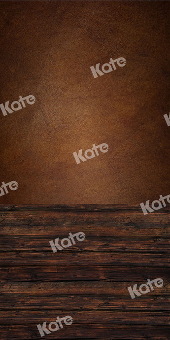 Kate Sweep Backdrop Brown Wall Wood Floor for Photography