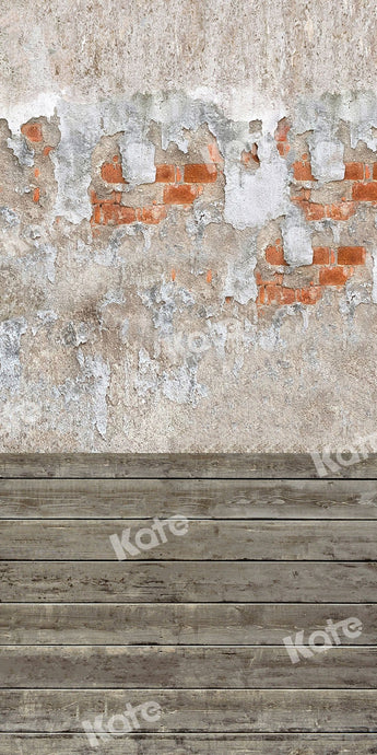 Kate Sweep Backdrop Do Old Brick Wall Wood Floor for Photography