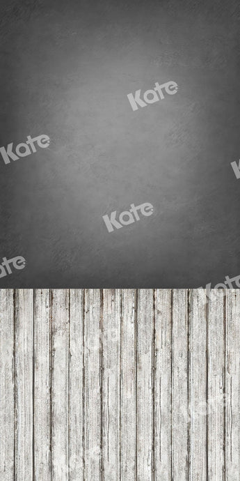 Kate Sweep Backdrop Grey Abstract Wall Wood Floor for Photography
