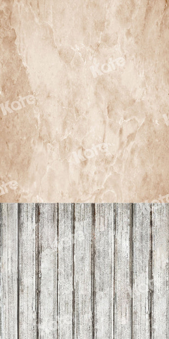Kate Sweep Backdrop Cream Abstract Wall Wood Floor for Photography