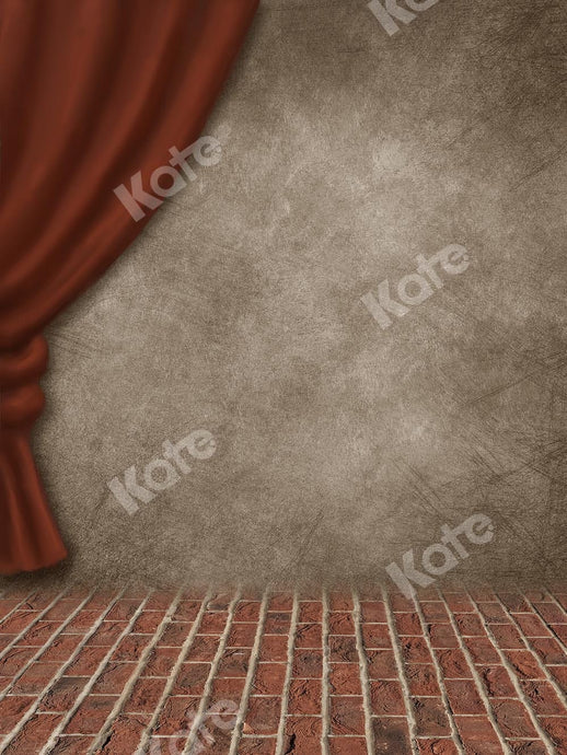 Kate Retro Stage Brick Floor Backdrop Designed by Chain Photography