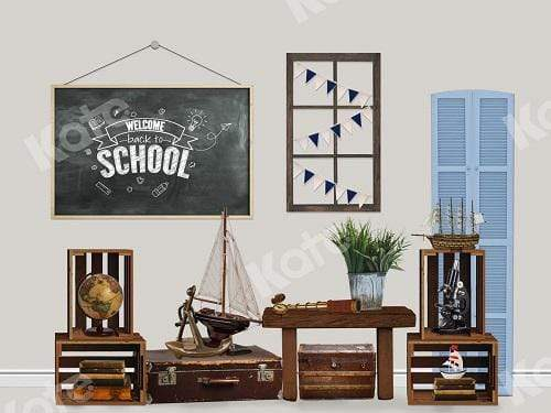 Katebackdrop:Kate Back to School with Blackboard Backdrop for Children Designed By Claire