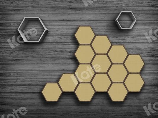 Kate Honeycomb Birthday Wood Backdrop Designed By JS Photography