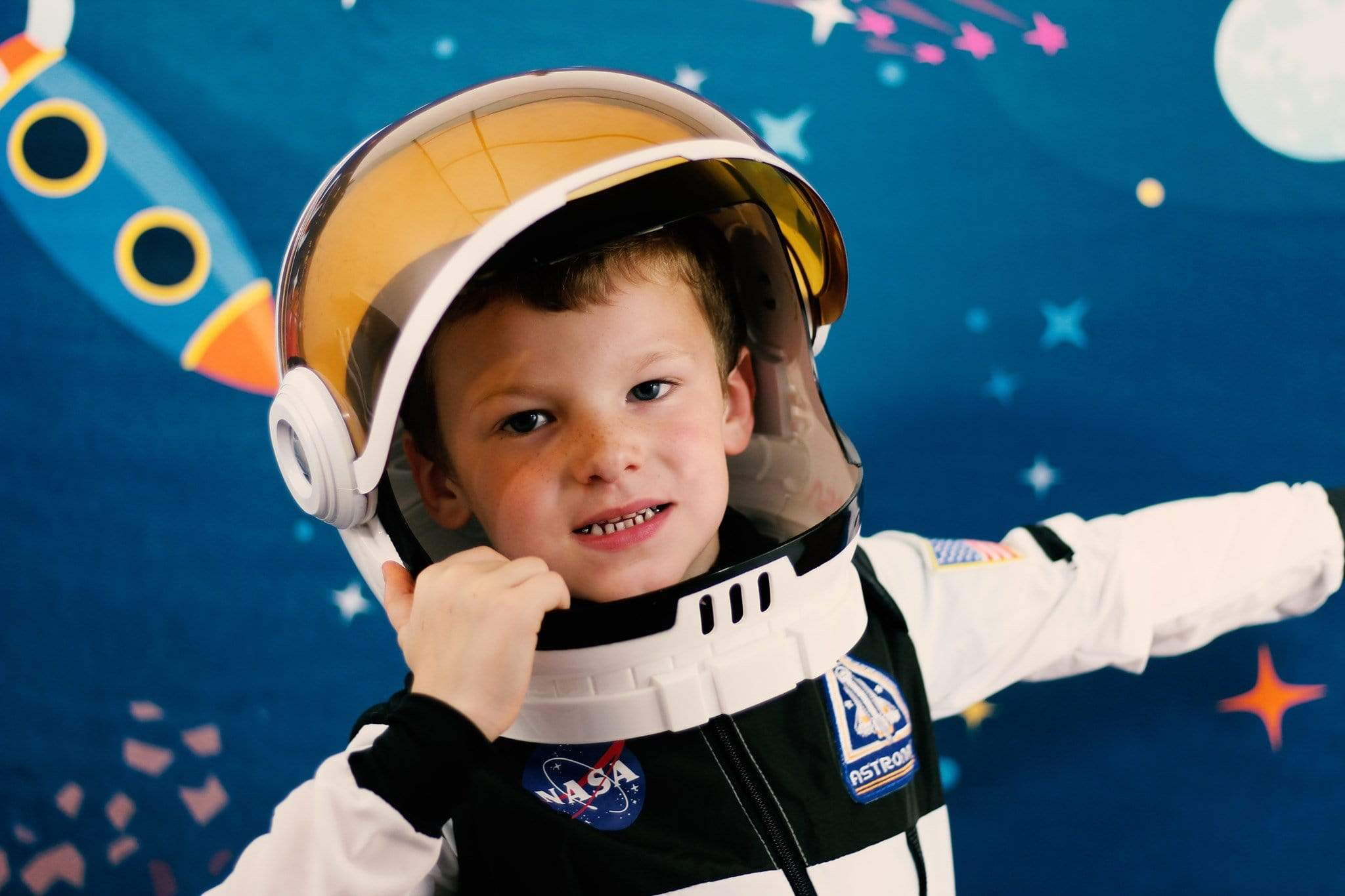 Load image into Gallery viewer, Katebackdrop£ºKate Space astronaut star backdrop designed by Jerry_Sina