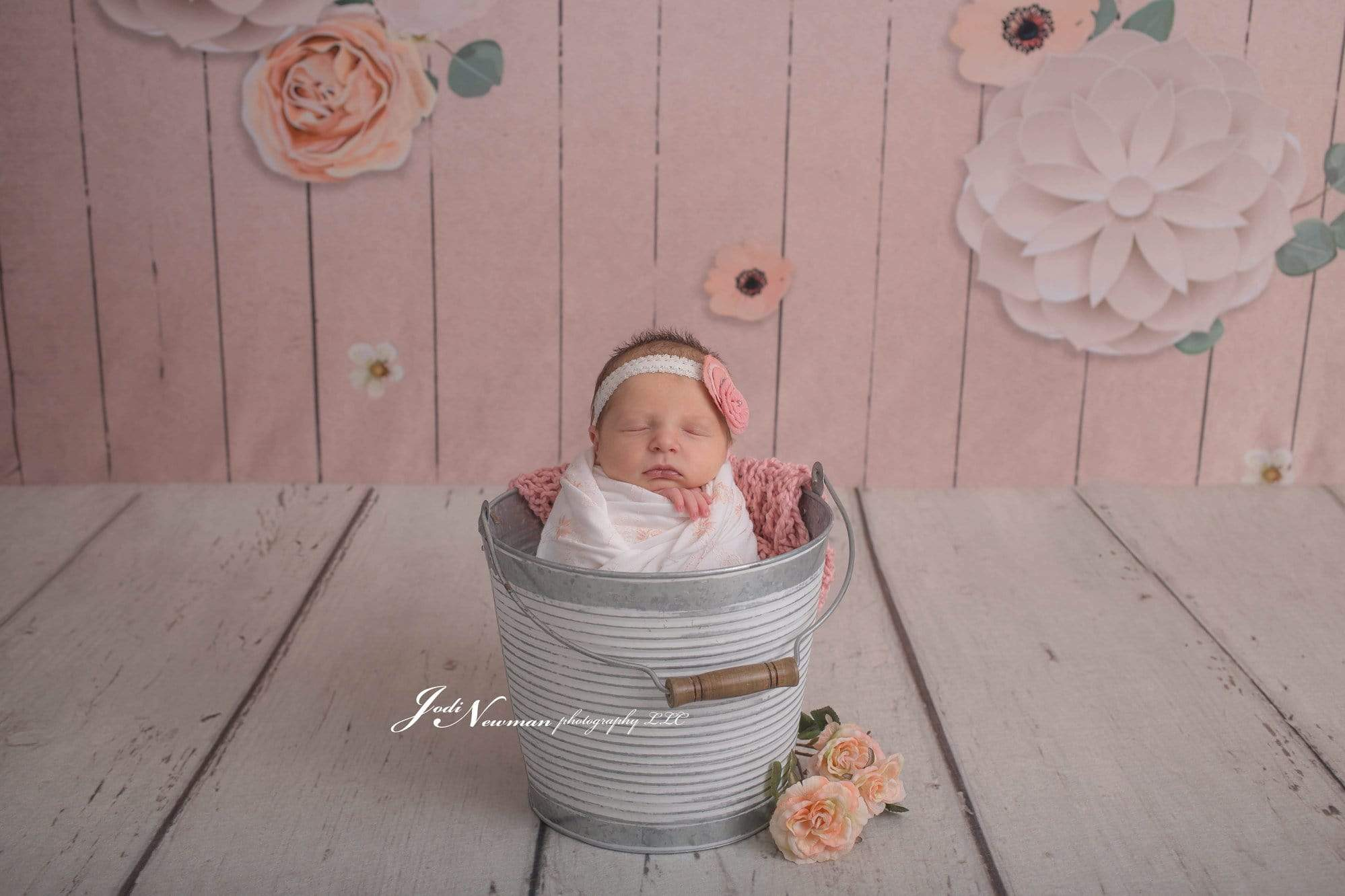 Load image into Gallery viewer, Katebackdrop:Kate Beige Wood Floor and Flowers Backdrop for Photography designed by Jerry_Sina