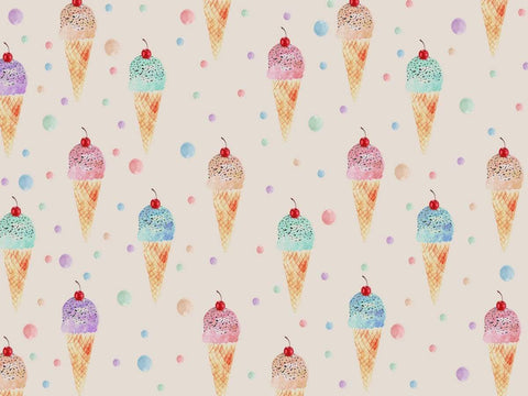Kate Beige Cute Ice-cream Summer Backdrop for Photography designed by Jerry_Sina