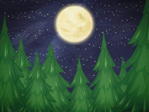 Katebackdrop£ºKate Christmas Farm Night with Moon Backdrop Designed By Jerry_Sina