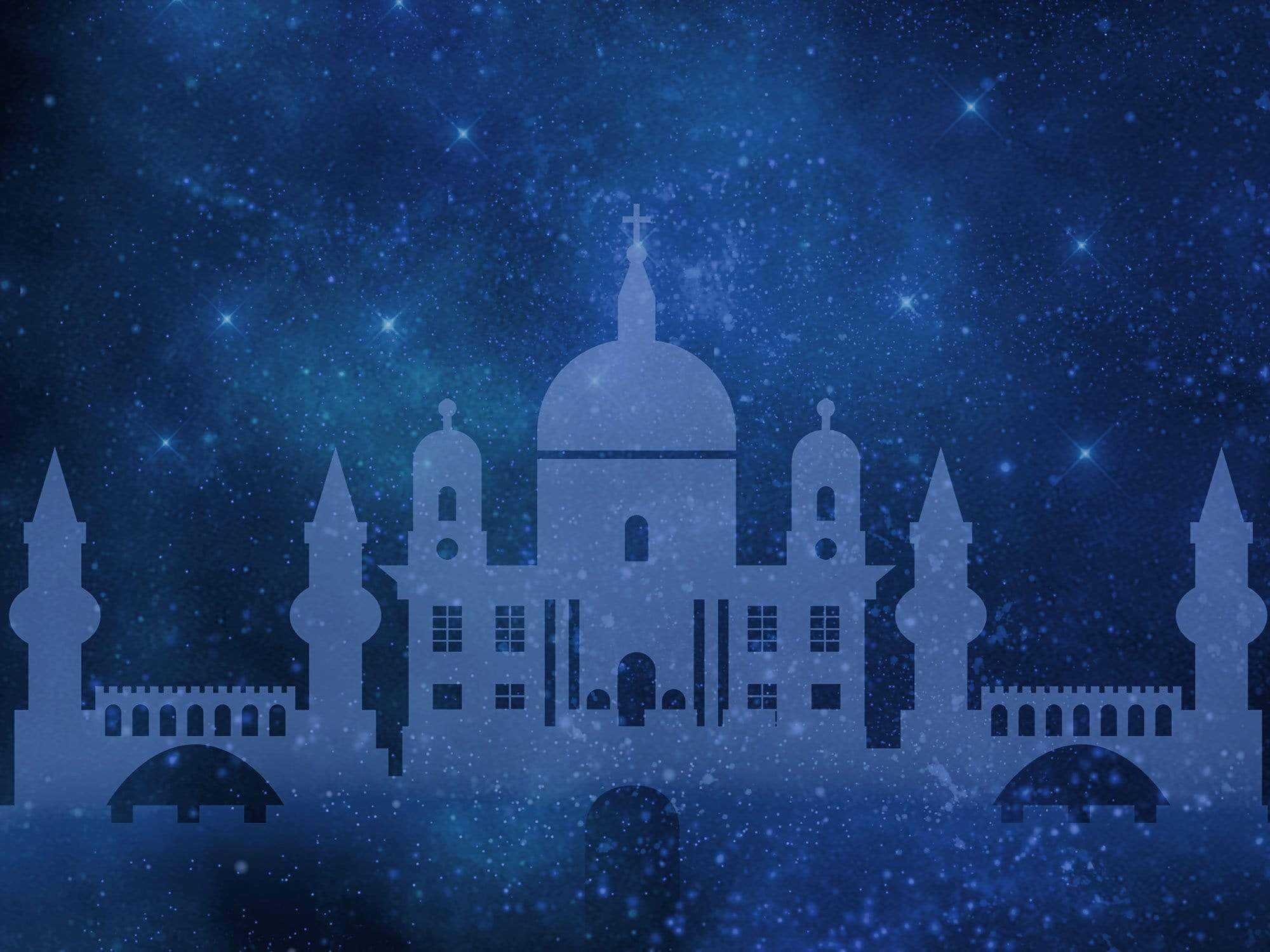 Load image into Gallery viewer, Katebackdrop£ºKate Castle Starry Sky Backdrop for Children Photography Designed By Jerry_Sina