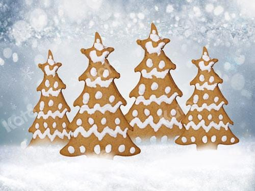 Kate Christmas Tree Gingerbread Backdrop  Designed By JS Photography