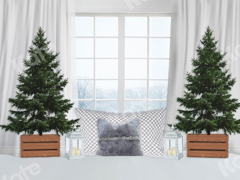 Kate Xmas Backdrop White Window Christmas Tree Designed By JFCC