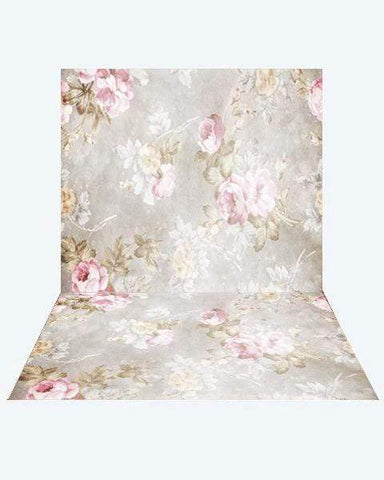 Kate Retro Blurry Bokeh Flowers Backdrop + Retro Blurry Bokeh Flowers Rubber Floor Mat