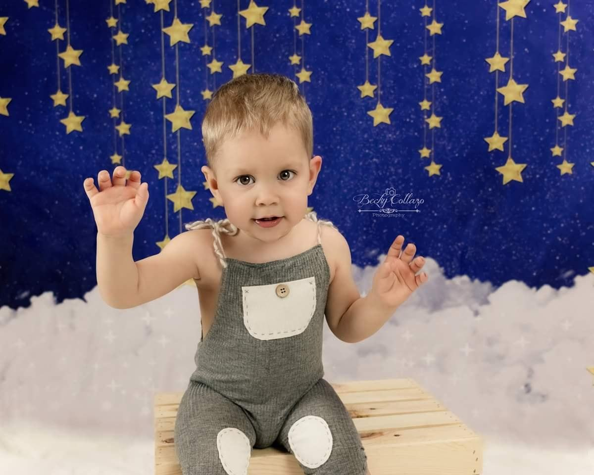 Load image into Gallery viewer, Katebackdrop£ºKate Night Sky with Bling Stars and Clouds Children Backdrop for Photography Designed by JFCC