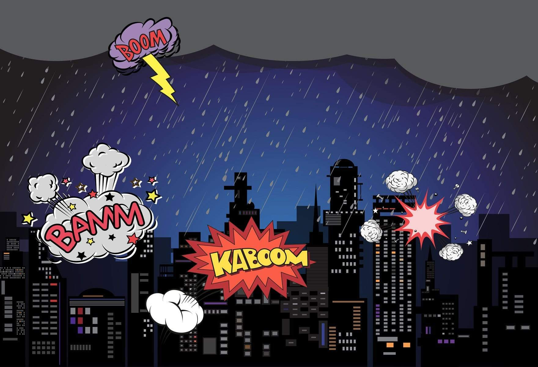 Load image into Gallery viewer, Katebackdrop£ºKate Boom super hero city night children backdrop