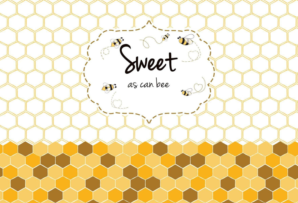 Katebackdrop£ºKate Sweet As Can Bee Baby Shower Backdrop