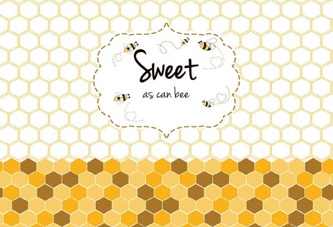 Kate Sweet As Can Bee Baby Shower Backdrop