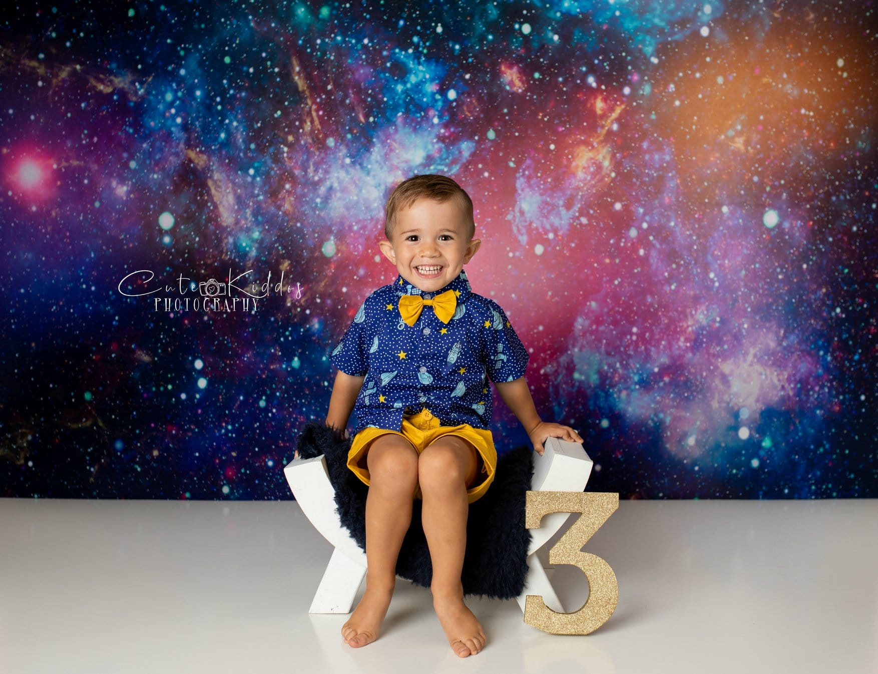 Load image into Gallery viewer, Kate Colorful Galaxy Outer Space  Backdrop for photography