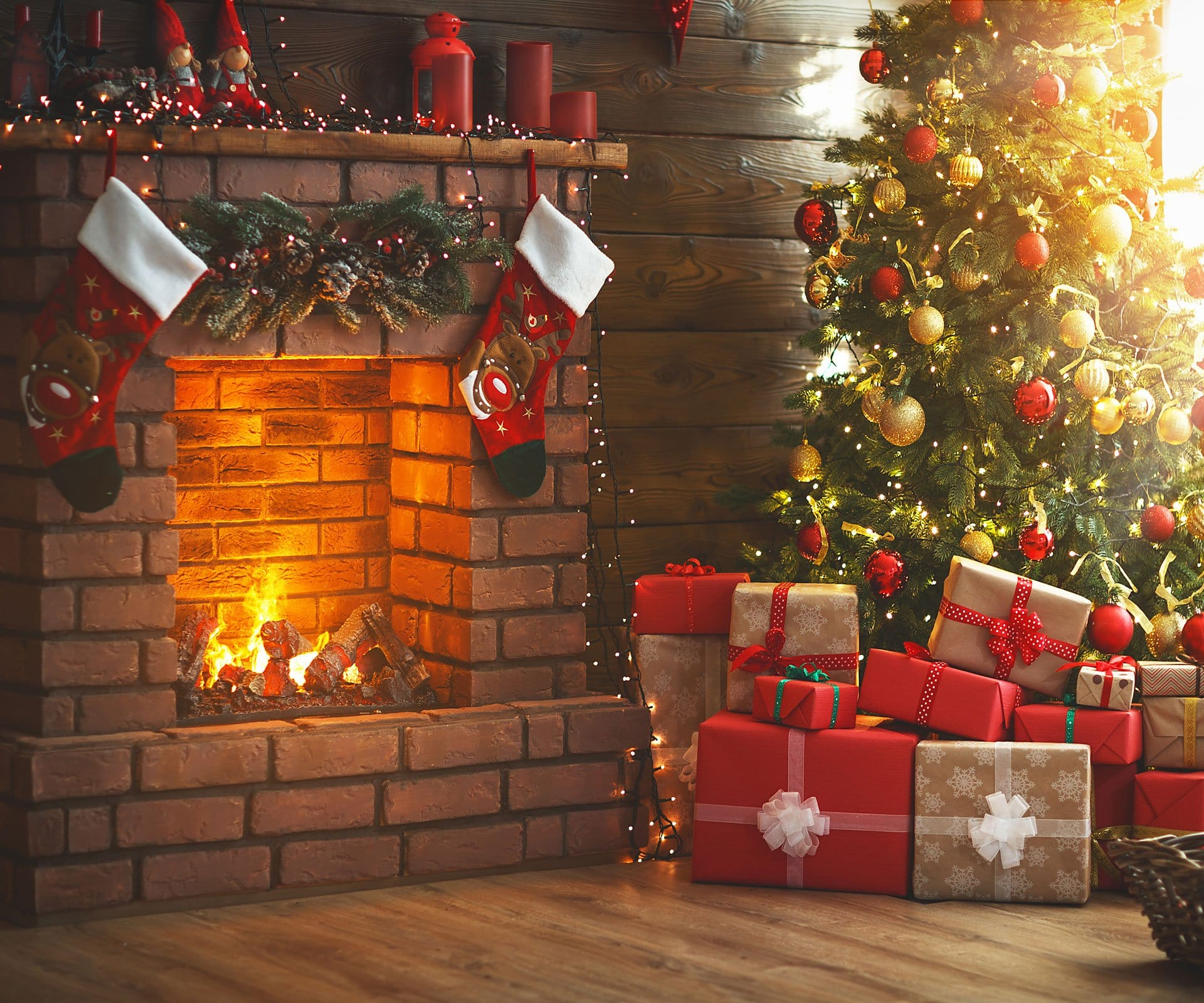Load image into Gallery viewer, Kate Winter Christmas trees  Fireplace  Stockings  Christmas Gifts for Pictures