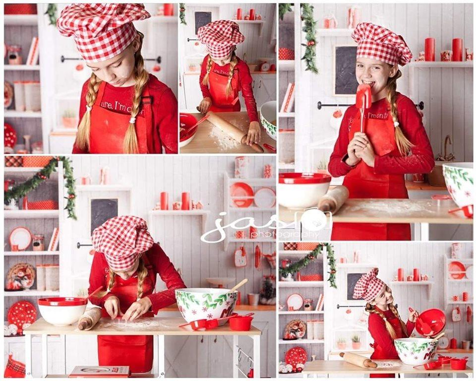 Katebackdrop£ºKate Christmas Kitchen Backdrop White Wall for Photography