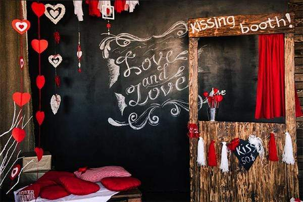 Load image into Gallery viewer, Katebackdrop£ºKate Kiss Booth Valentines Backdrop for Photography