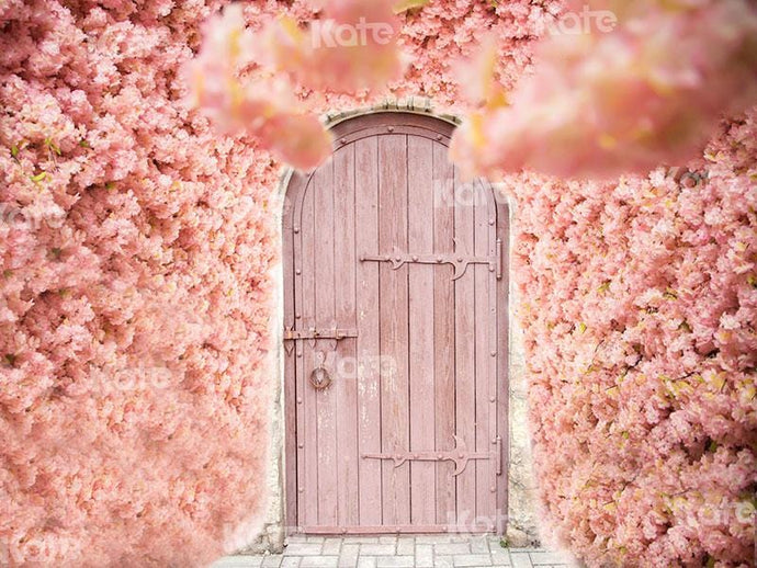 Kate Valentine's Day Pink Florals Front Door Backdrop for Photography