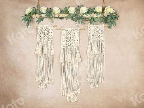 Katebackdrop:Kate Spring\Mother's Day Macrame Boho Floral Beige Backdrop Designed by Jia Chan Photography