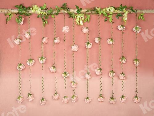 Katebackdrop:Kate Spring Pink Hanging Flower Mother's Day Backdrop Designed by Jia Chan Photography