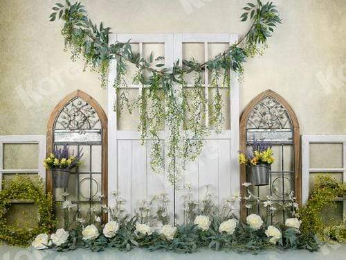 Katebackdrop:Kate Spring Floral Archway Decoration Backdrop Designed by Jia Chan Photography