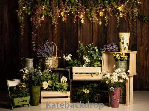 Katebackdrop:Kate Spring Flowers Garden Wooden Backdrop Designed by Jia Chan Photography