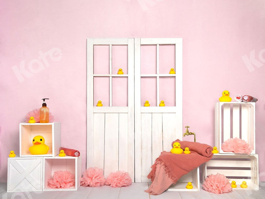 Kate Bathtime Duck Pink Backdrop Designed by Jia Chan Photography