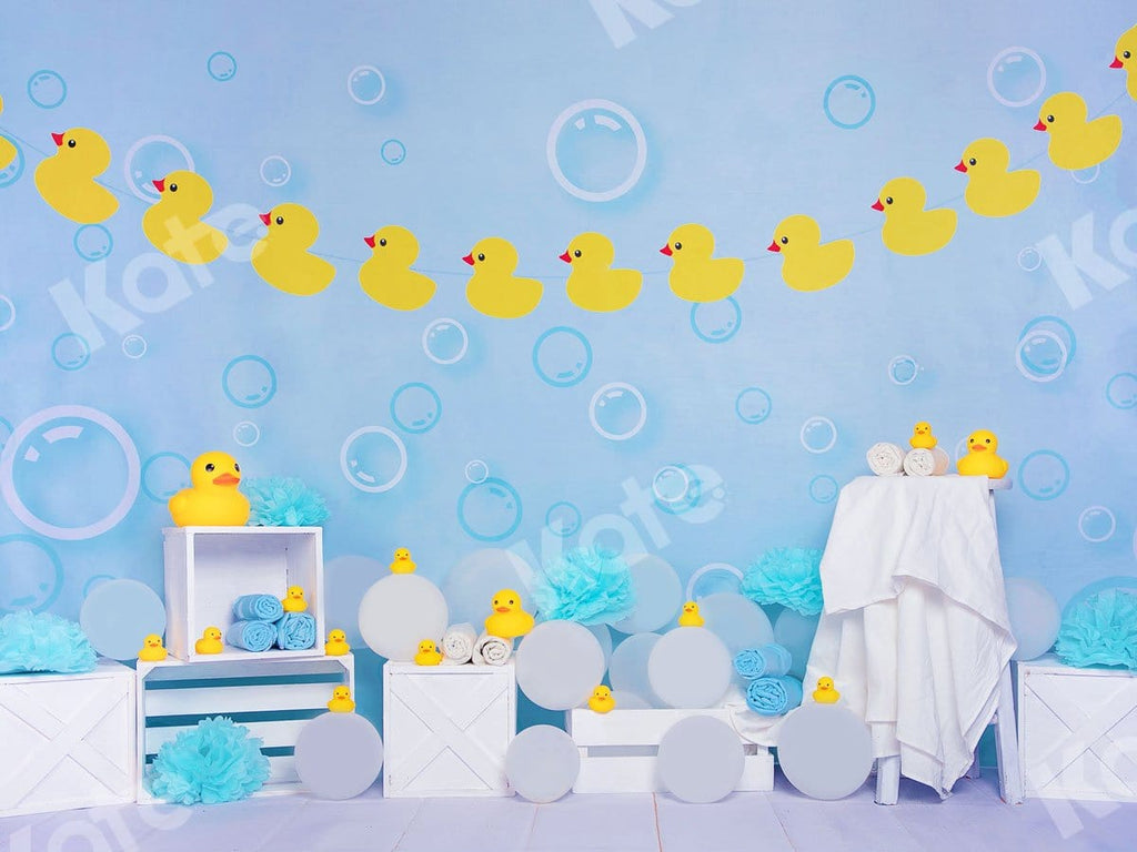 Kate Bathtime Duck Blue Backdrop Designed by Jia Chan Photography