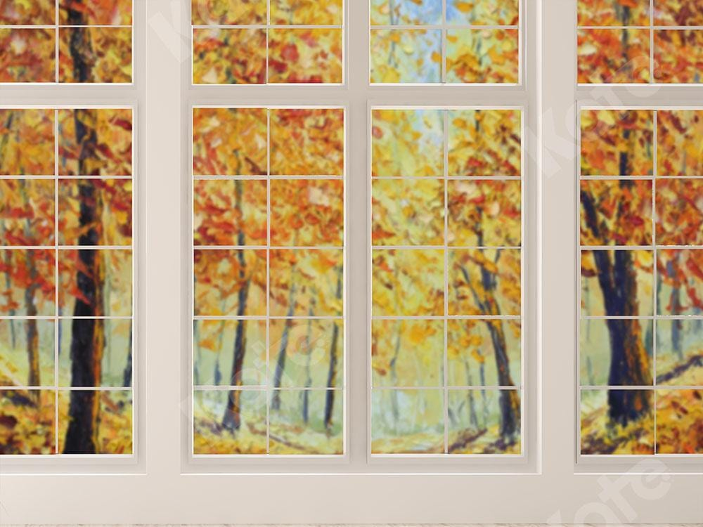 Kate Window Backdrop Fall Garden Designed by Emetselch