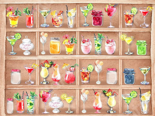 Kate Summer Backdrop Drinks Cabinet Watercolor Designed by GQ