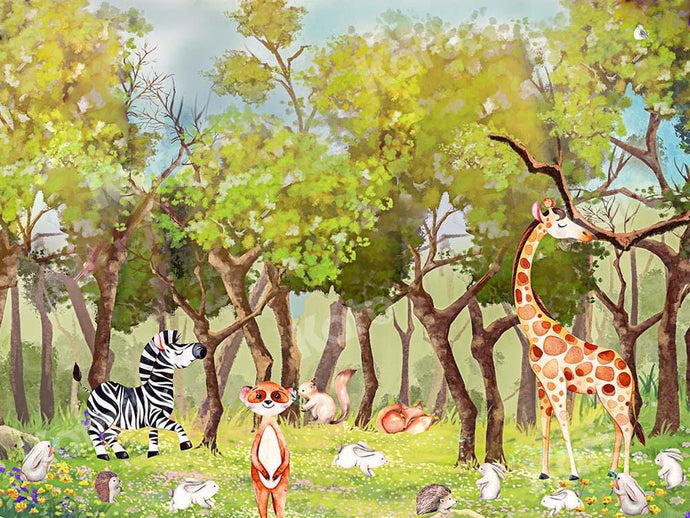Kate Forest Animals Camping Backdrop Designed by GQ