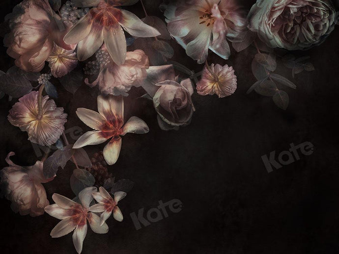 Kate Fine Art Florals Black Backdrop Designed by Chain Photography