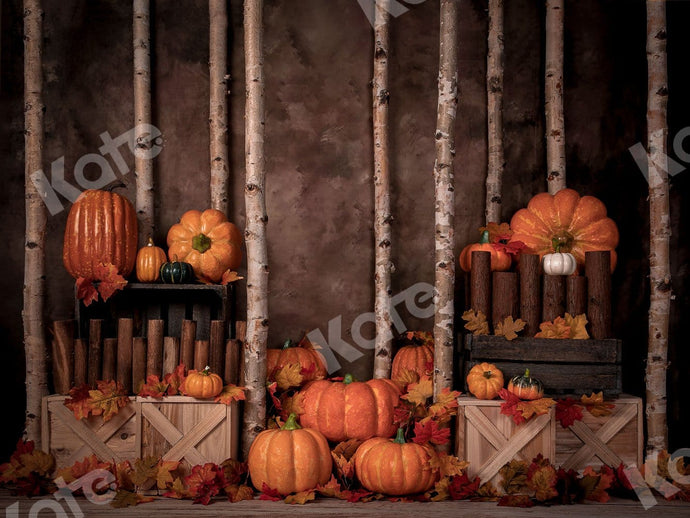 Kate Autumn/Thanksgiving Pumpkins Backdrop Designed by Jia Chan Photography