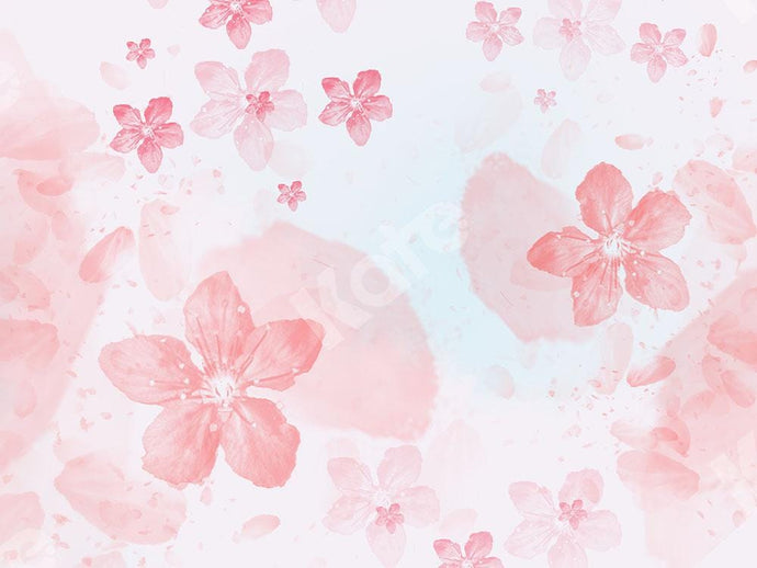 Kate Florals Backdrop Pink Peach Blossom Designed by Chain Photography