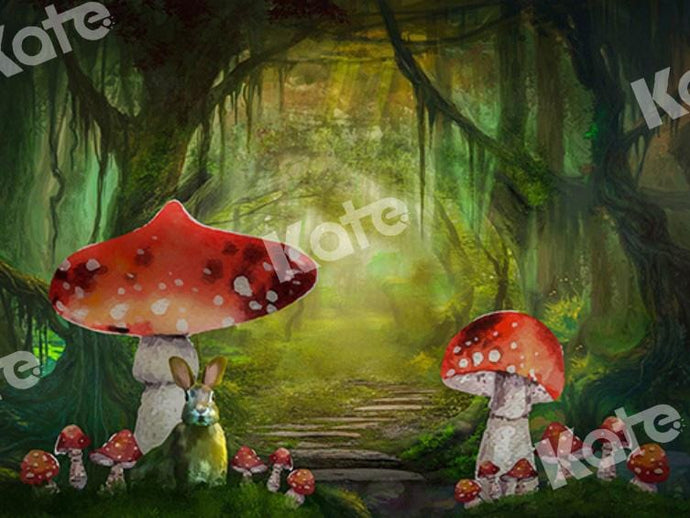Kate Fairy Backdrop Mushroom Forest Bunny Alice Designed by Chain Photography