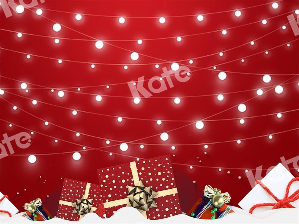 Kate Xmas Backdrop Light Red Background Designed by Chain Photography