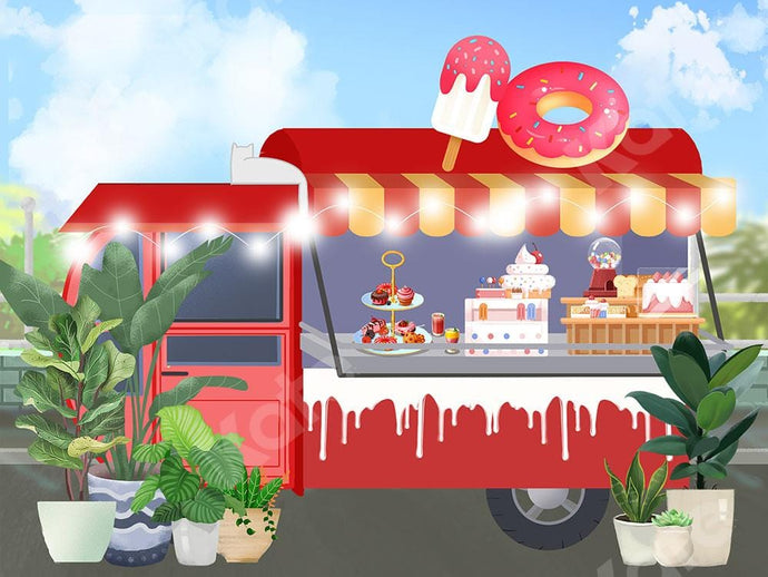 Kate Cake Ice Cream Truck Backdrop Designed by Chain Photography