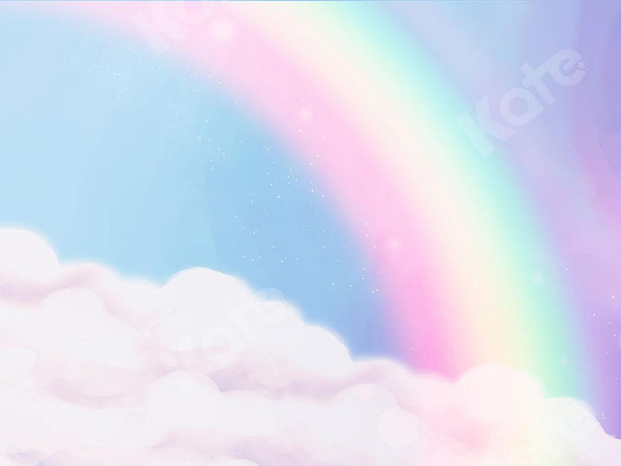 Kate Rainbow Cloud Backdrop Designed by Chain Photography