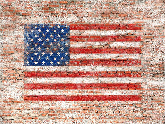 Kate US Flag Brick Backdrop Designed by Jia Chan Photography