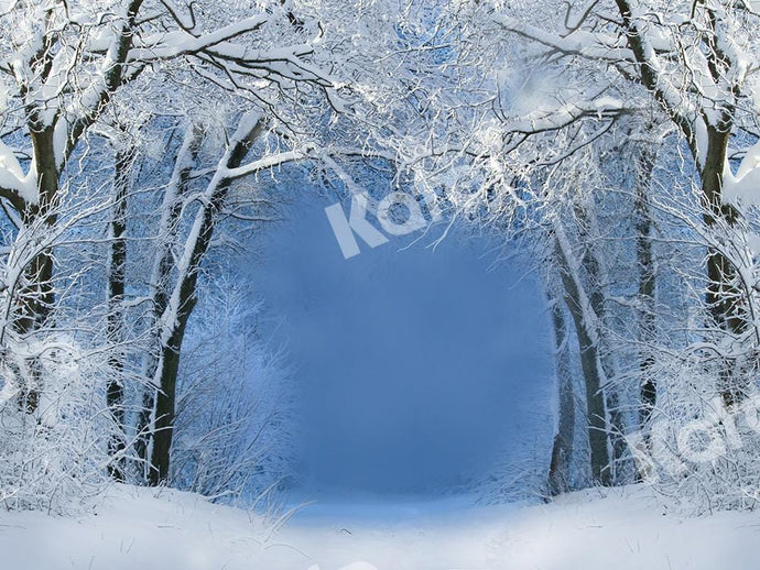 Kate Winter Backdrop Snow Forest Designed by Chain Photography