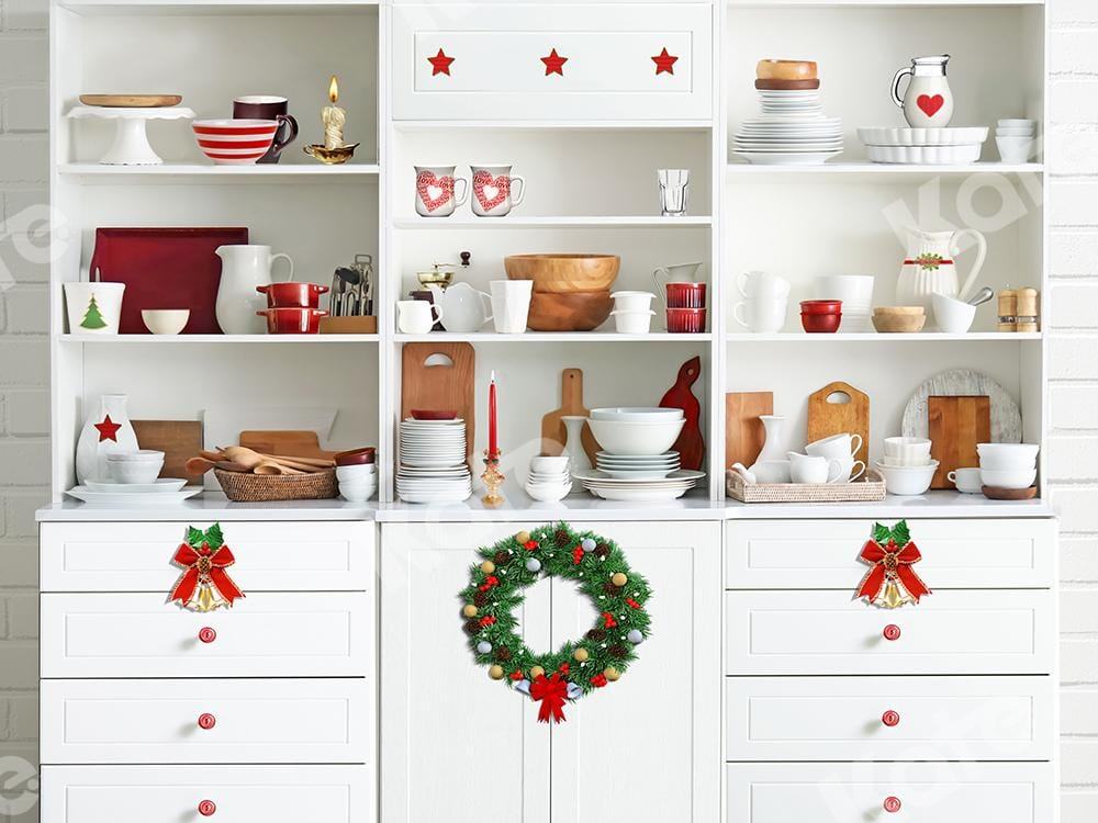 Kate Xmas Backdrop Christmas White Kitchen Designed by Emetselch