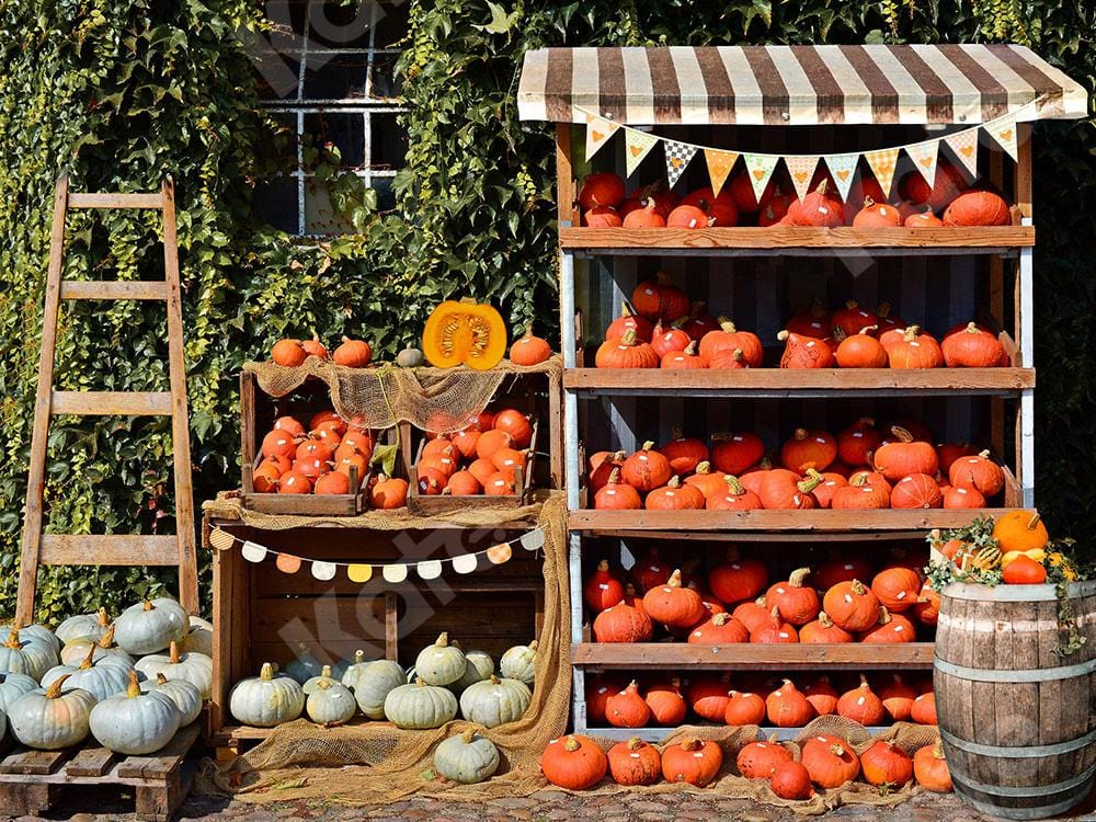 Kate Fall/ Thanksgiving Backdrop Pumpkin Shops Designed by Emetselch