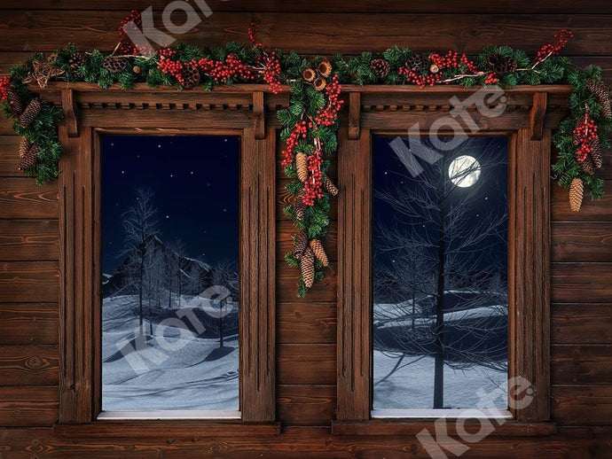Kate Windows Wood Christmas Backdrop Designed by Chain Photography