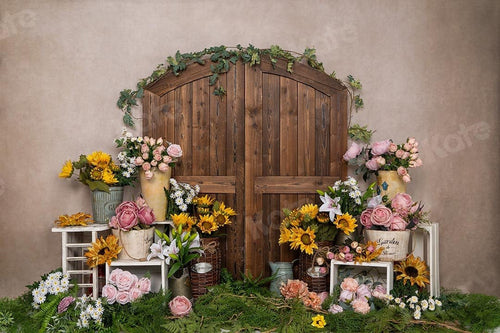 Kate Spring/mother's Day Flower Shop Cake Smash Backdrop Designed by Emetselch