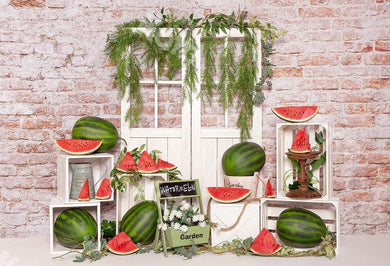 Kate Summer Cake Smash Watermelon Backdrop Designed by Emetselch